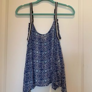 Volcom Blue Patterned Tank
